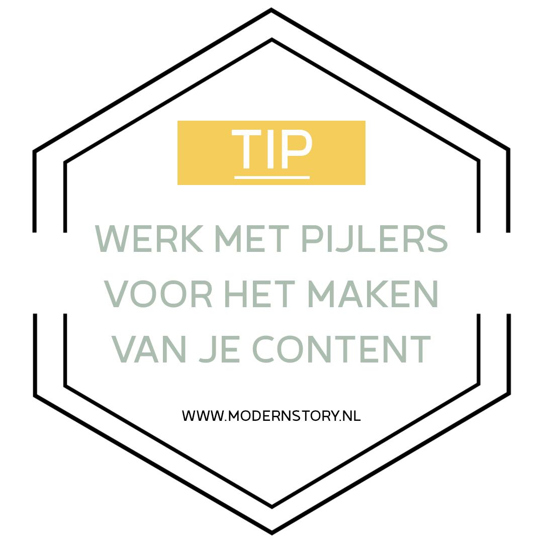 Social media tip: pijlers