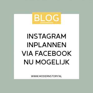 Instagram inplannen via Facebook