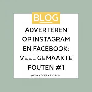 Adverteren op Instagram en Facebook: veel gemaakte fouten #1
