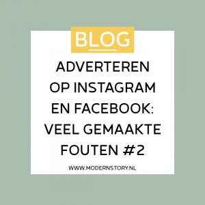 Adverteren op Instagram en Facebook: veel gemaakte fouten #2