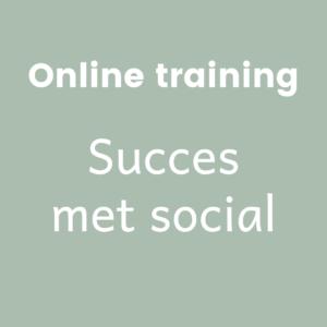 Online training Succes met social