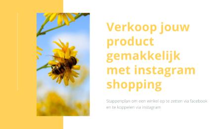 Verkoop jouw product gemakkelijk met Instagram shopping