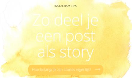 Hoe deel ik een Instagram post in story?